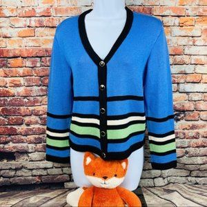 St John Sport button front cardigan sweater size P